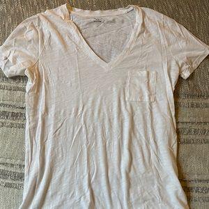 Madewell v-neck white t shirt small